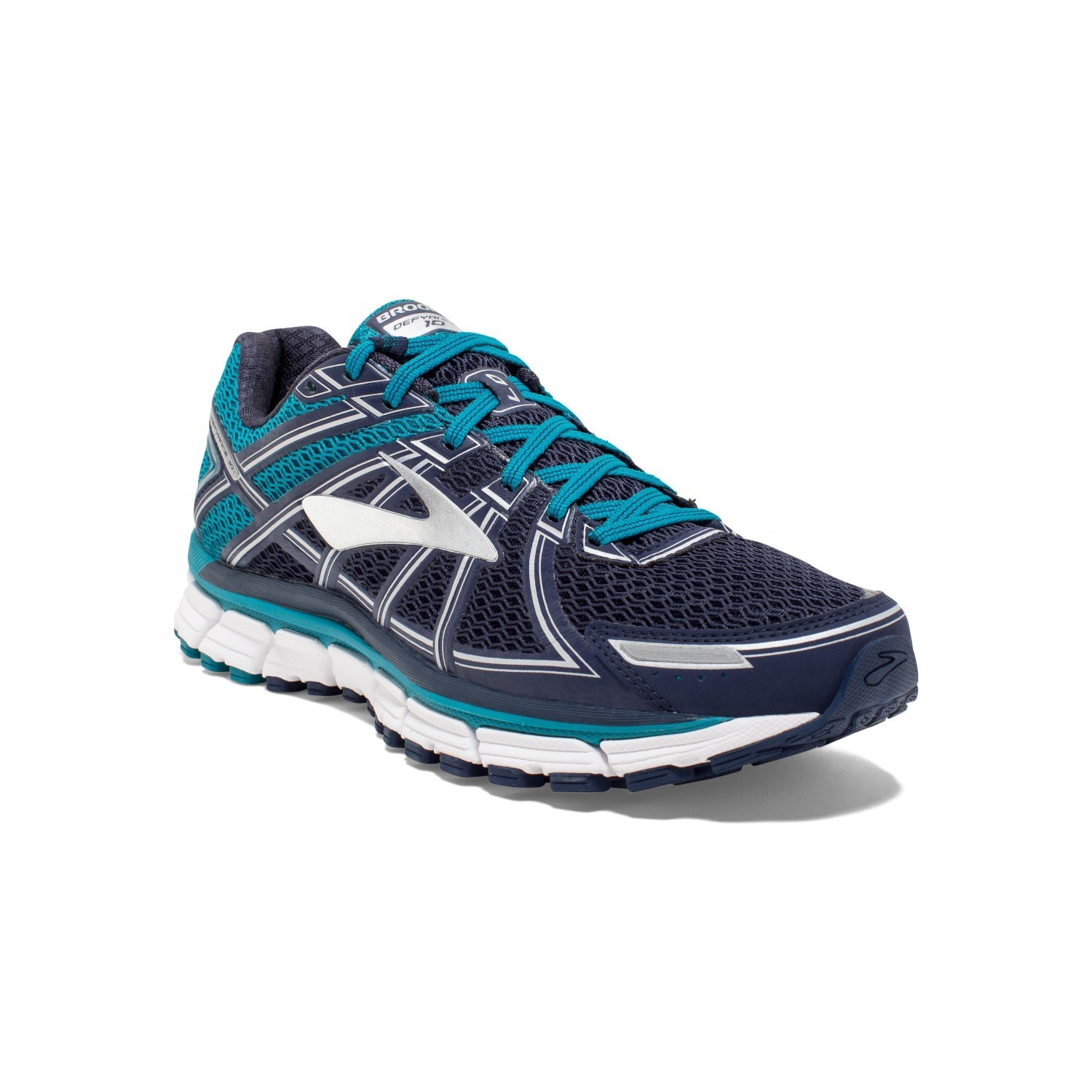 21424016ce0a1 Brooks Defyance 10 - Mens Running Shoes - Tahitian Navy White ...