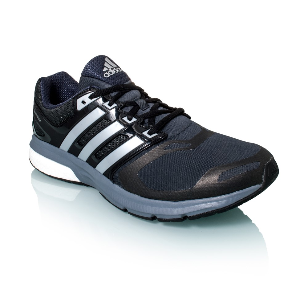 adidas questar boost techfit mens running shoes black. Black Bedroom Furniture Sets. Home Design Ideas
