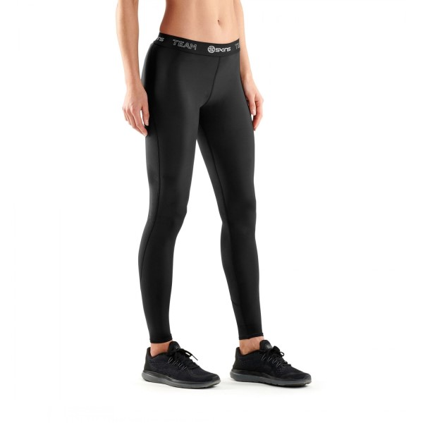 Skins DNAmic Team Womens Compression Long Tights - Black