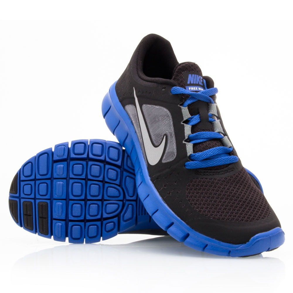 Nike Free Run 3 GS - Junior Boys Running Shoes - Black ...