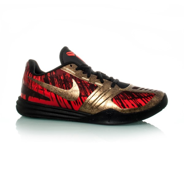online store 31813 80c9c Nike Kobe Mentality - Mens Basketball Shoes - Black Metallic Gold Chilling  Red