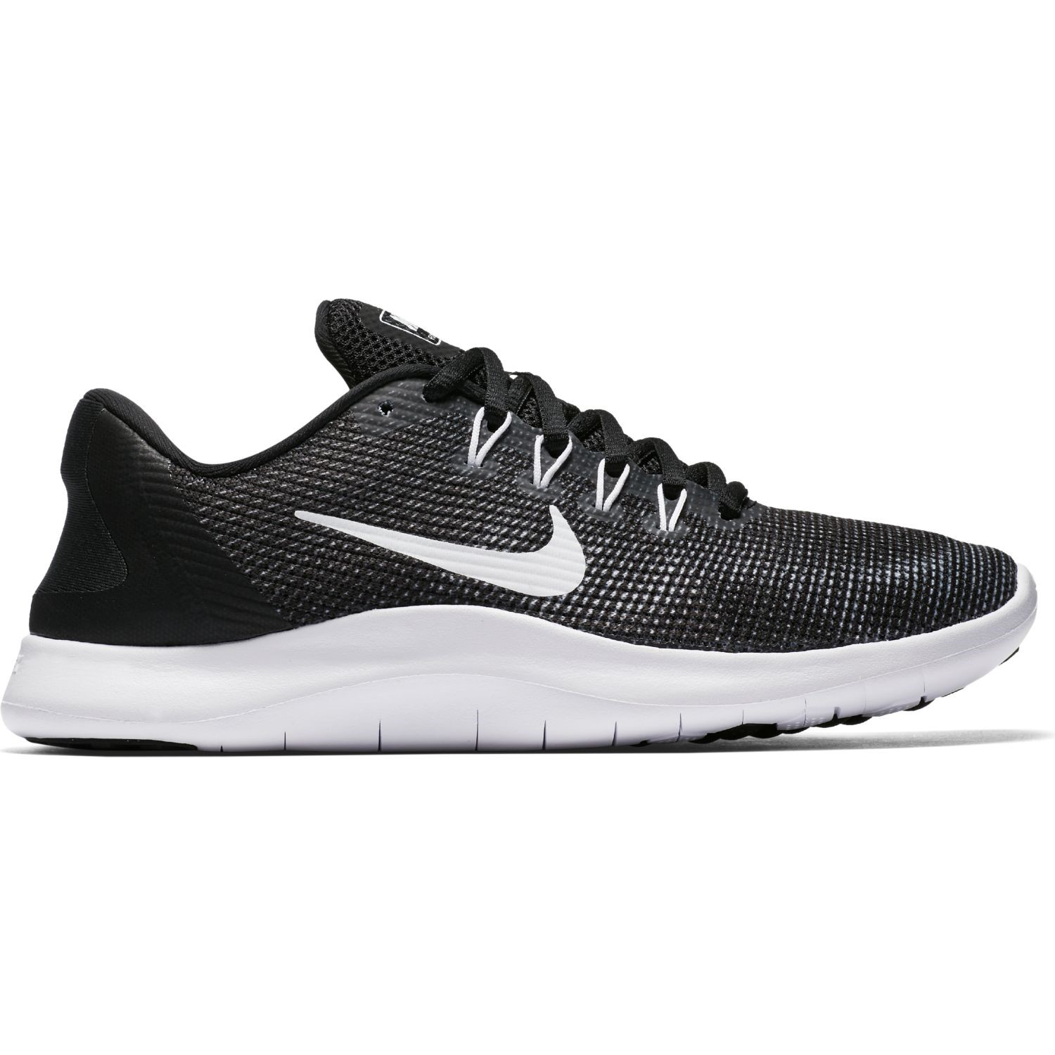 65d0ad4ba275 Nike Flex RN 2018 - Womens Running Shoes - Black White