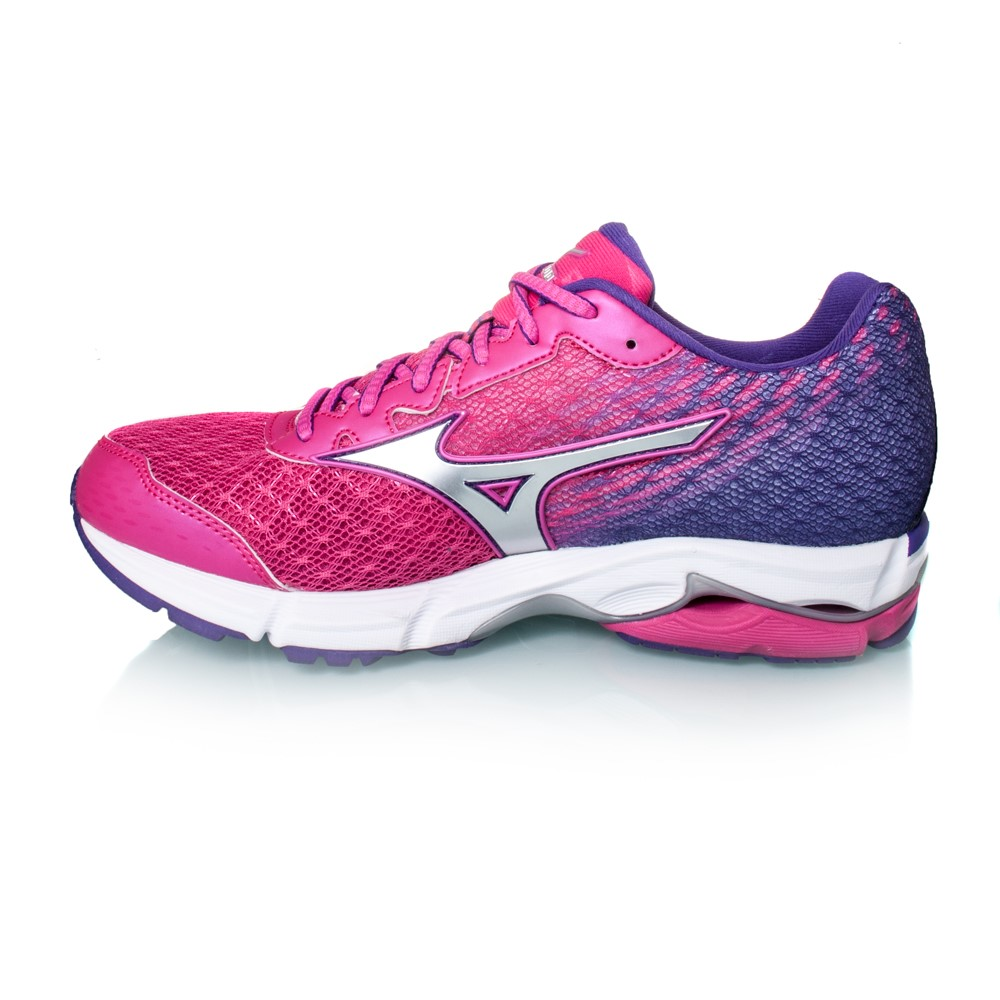mizuno wave rider 19 womens running shoes fuchsia purple online sportitude. Black Bedroom Furniture Sets. Home Design Ideas