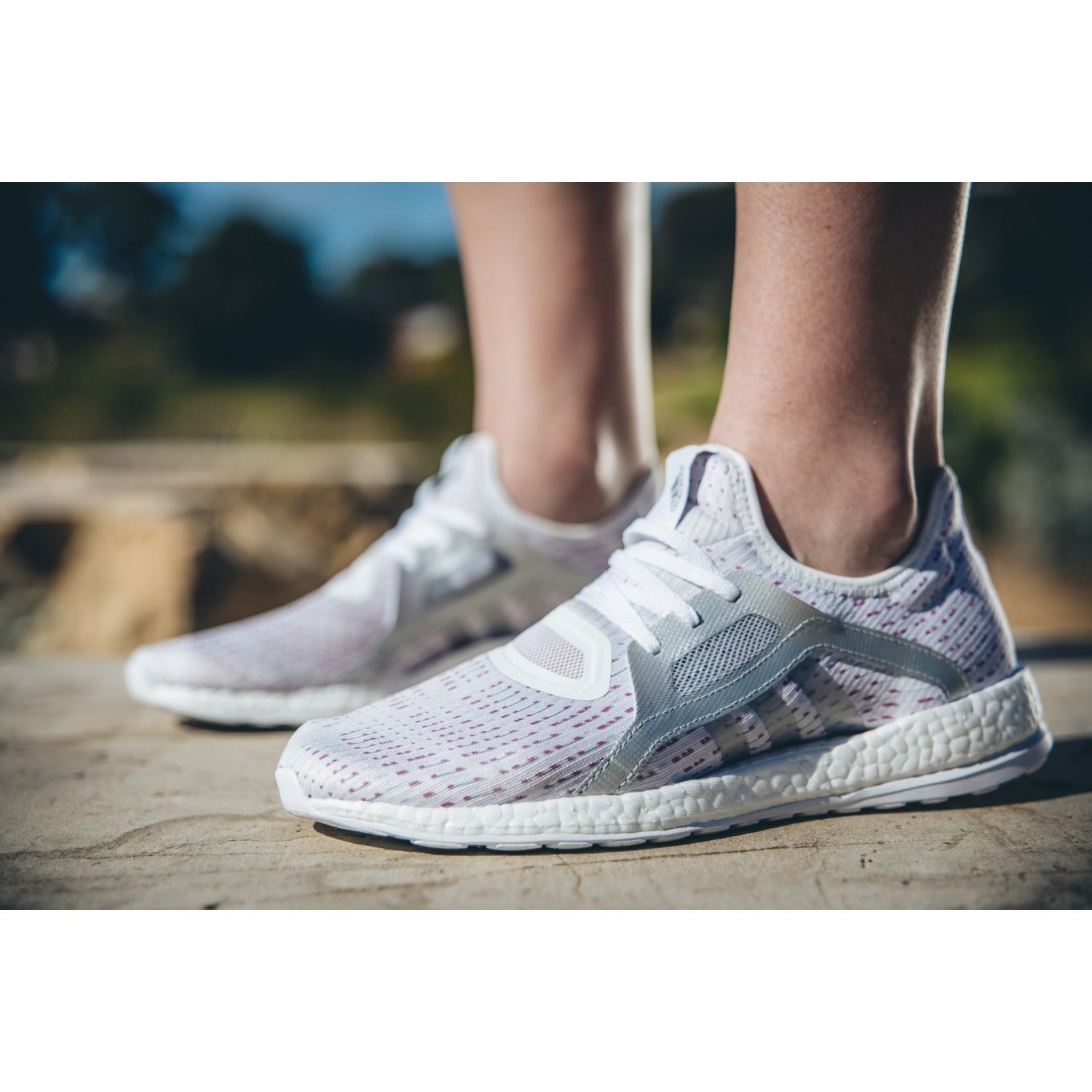 96282ef30 Adidas Pure Boost X - Womens Running Shoes - White Silver Metallic ...
