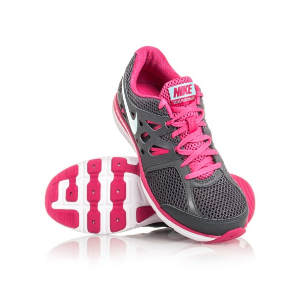 Nike Dual Fusion Lite - Womens Running Shoes - Grey Pink White ... e20669ee46
