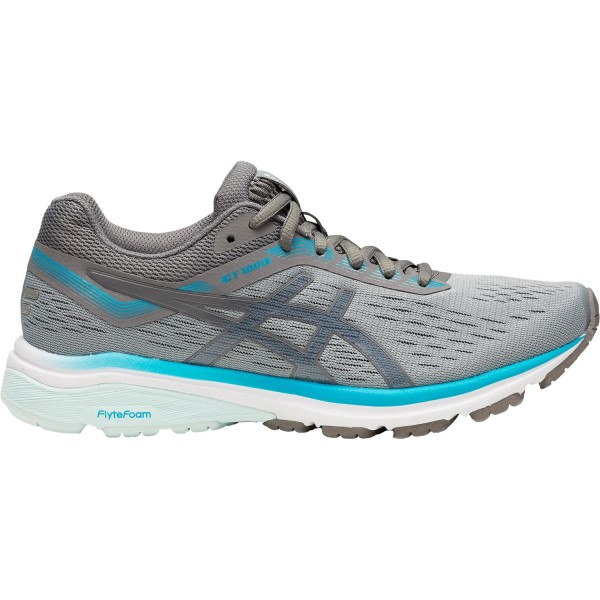 Asics GT-1000 7 - Womens Running Shoes - Stone Grey/Carbon/Blue Bell
