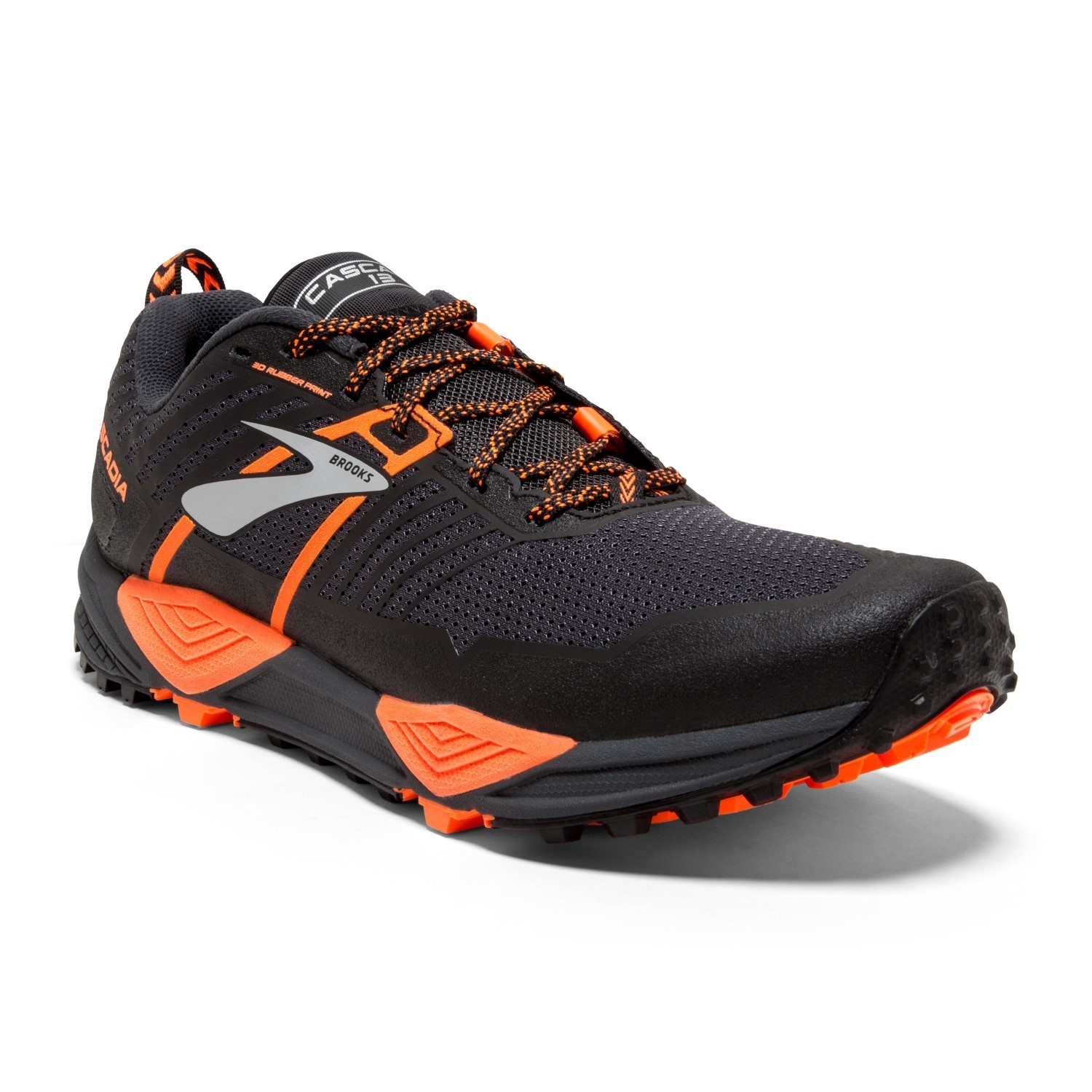 198c0b148cc Brooks Cascadia 13 - Mens Trail Running Shoes - Grey Black Orange ...