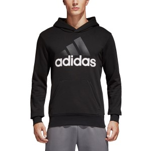 Adidas Essentials Linear Pullover Mens Casual Hoodie