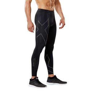 2XU MCS Run Mens Compression Tights - Black/Nero Reflective