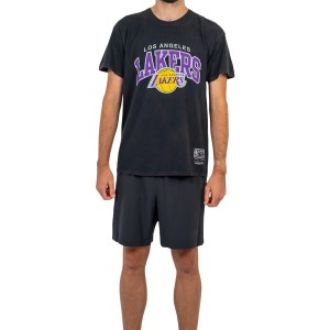 Mitchell & Ness Los Angeles Lakers Vintage Arch Mens Basketball T-Shirt