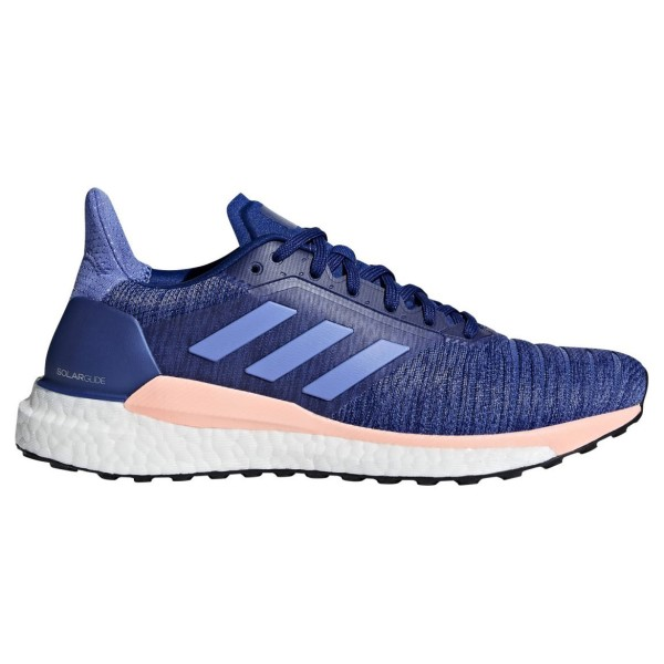Adidas Solar Glide - Womens Running Shoes - Mystery Ink/Real Lilac/Clear Orange