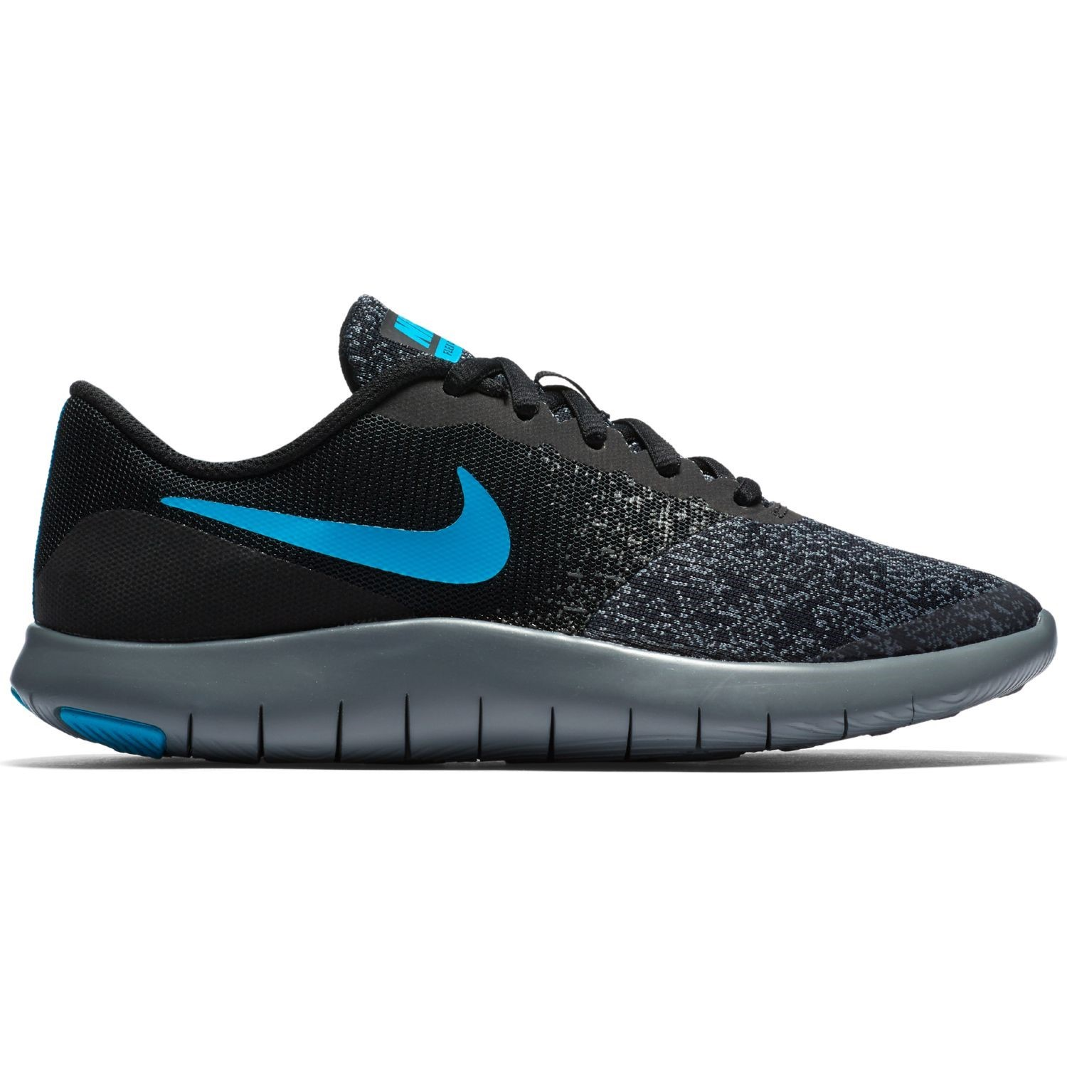 84af228cd57a Nike Flex Contact GS - Kids Boys Running Shoes - Black Neo Turquoise Dark