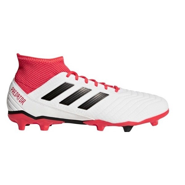 Adidas Predator 18.3 Firm Ground - Kids Boys Football Boots -  White Black Coral cd19ea97e85