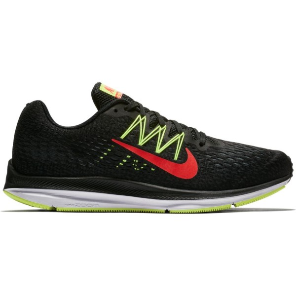 Nike Zoom Winflo 5 - Mens Running Shoes - Black/Bright Crimson/Volt