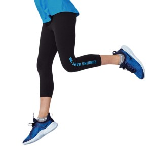 Running Bare WOTS Kids Girls 3/4 Training Tights