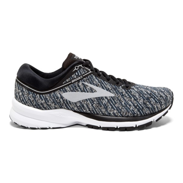 Brooks Launch 5 Knit - Womens Running Shoes - Black/Ebony/Primer Grey