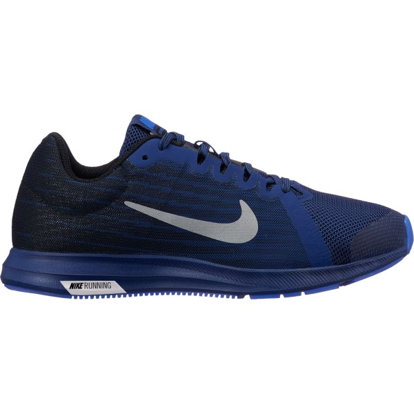 Nike Downshifter 8 Reflective GS - Kids Boys Running Shoes - Blue Void/Reflective Silver/Black