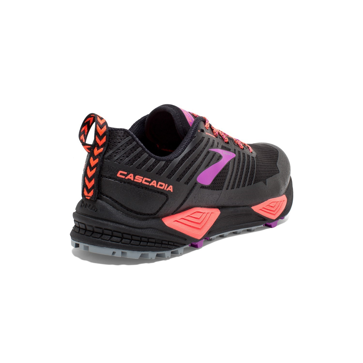 5468f7d080c Brooks Cascadia 13 - Womens Trail Running Shoes - Black Coral Purple ...
