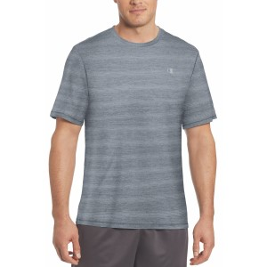 Champion C Vapor Stripe Heather Mens Training T-Shirt