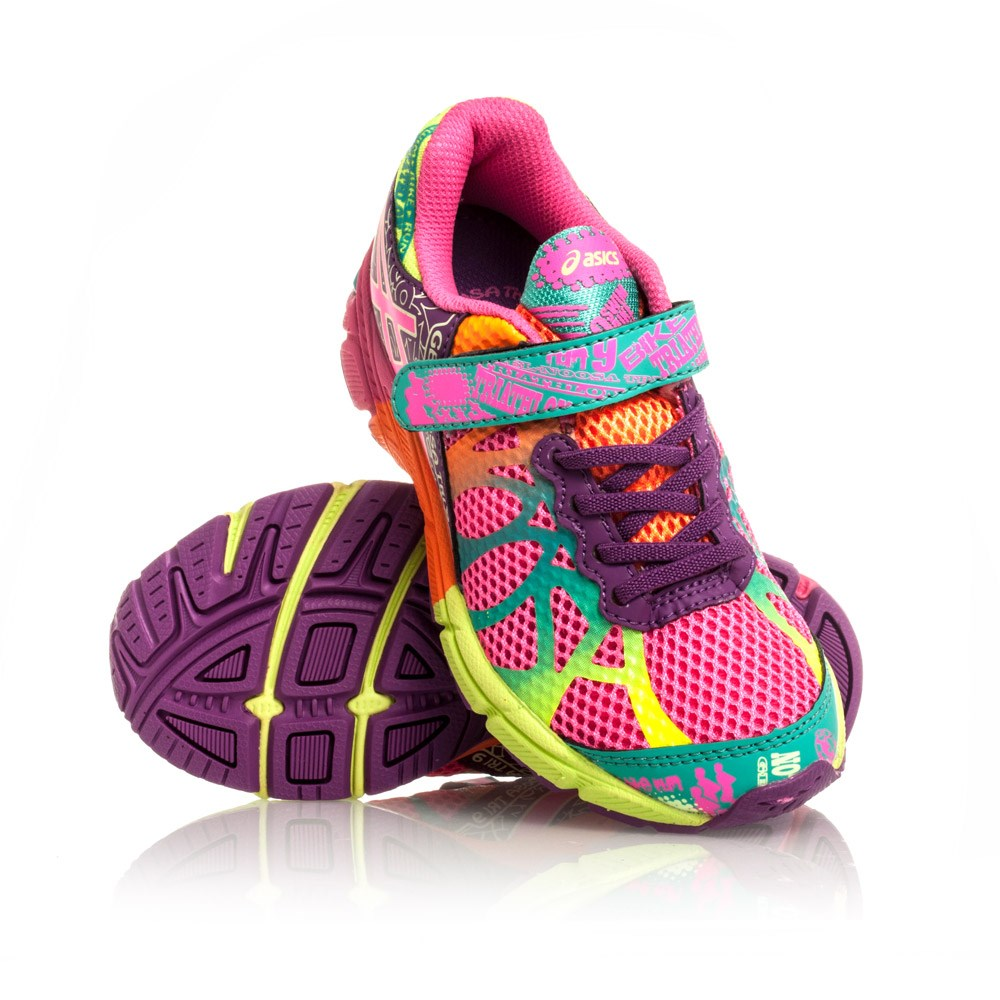 competitive price a95a5 00cc2 Asics Gel Noosa Tri 9 PS - Kids Girls Running Shoes - Hot Pink Neon