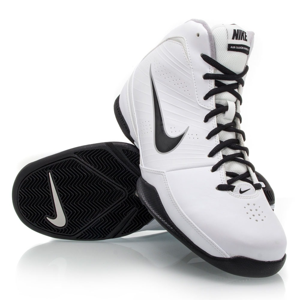 nike air quick handle mens basketball shoes white black online sportitude. Black Bedroom Furniture Sets. Home Design Ideas