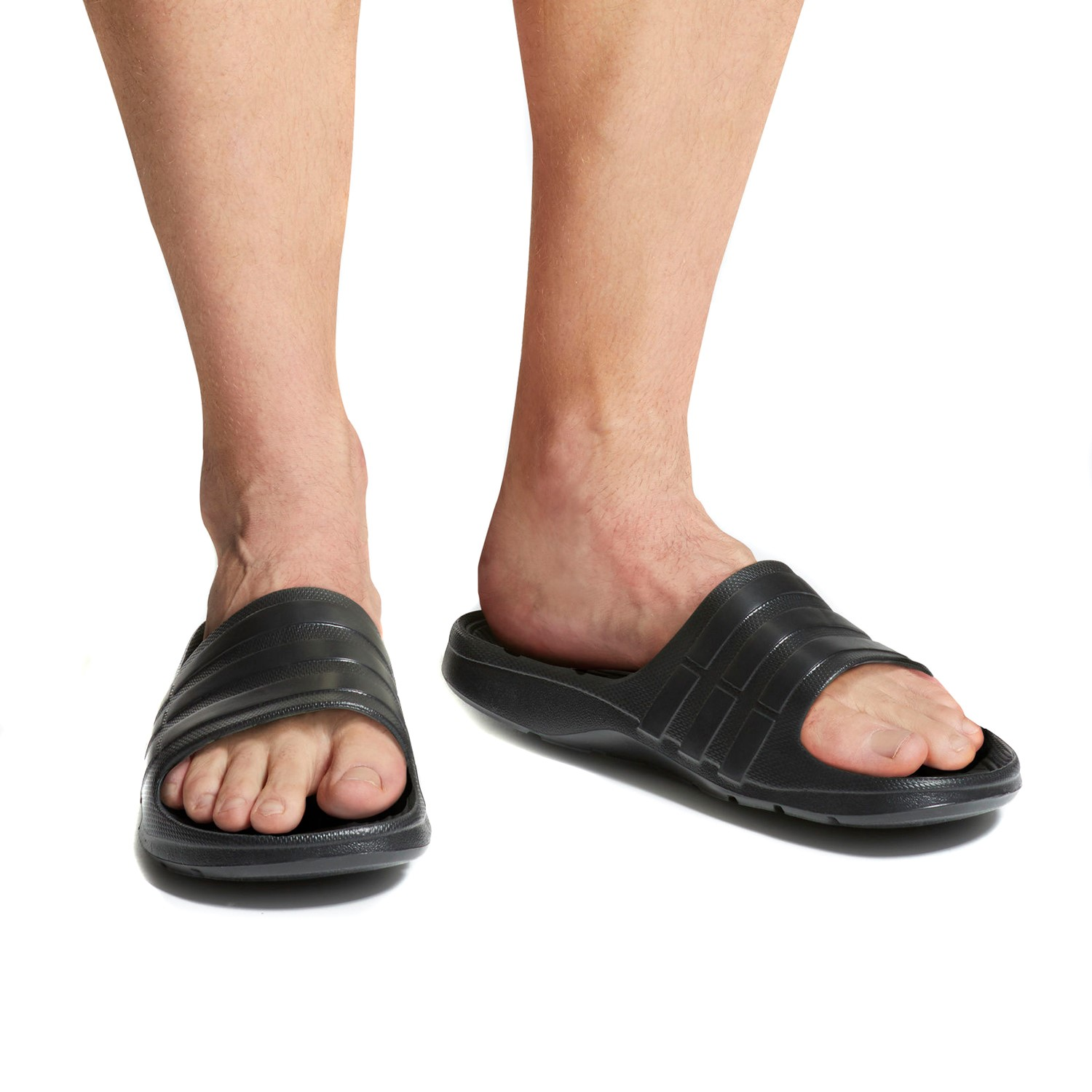 419b5bd133d30 Adidas Duramo Slides - Mens Casual Slides - Triple Core Black ...