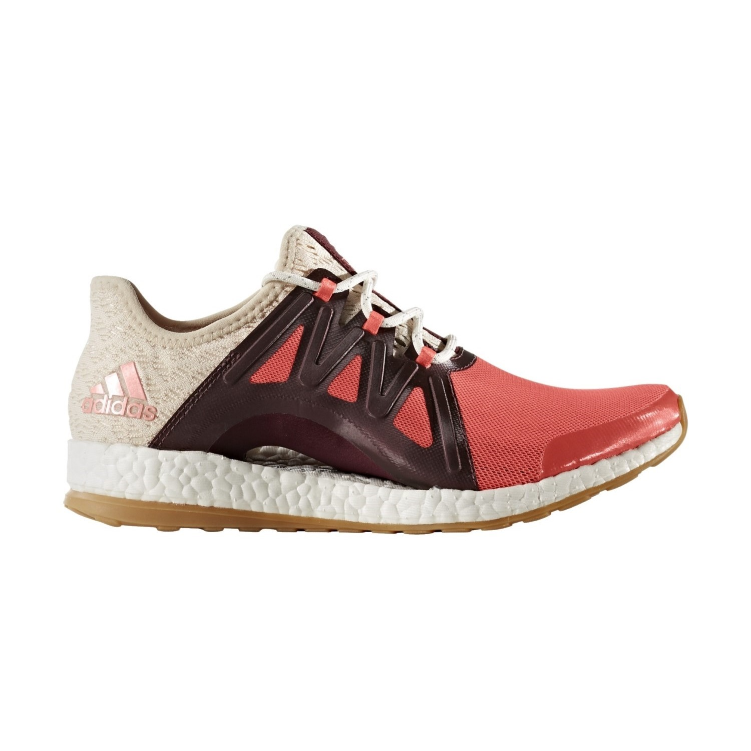 f44556ddad1a0 Adidas Pure Boost Xpose Clima - Womens Running Shoes - Easy  Coral Linen Maroon