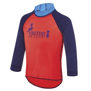 Speedo Logo Toddler Boys Long Sleeve Swimming Sun Top
