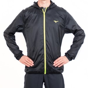 Mizuno Lightweight Hooded Mens Running Jacket