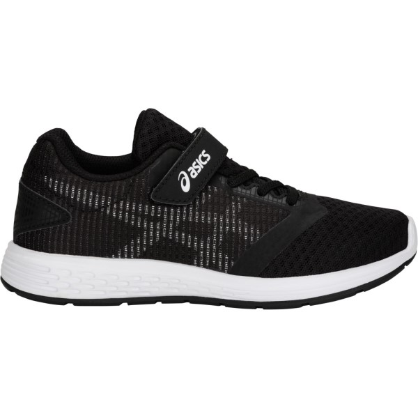 Asics Patriot 10 PS - Kids Boys Running Shoes - Black/White