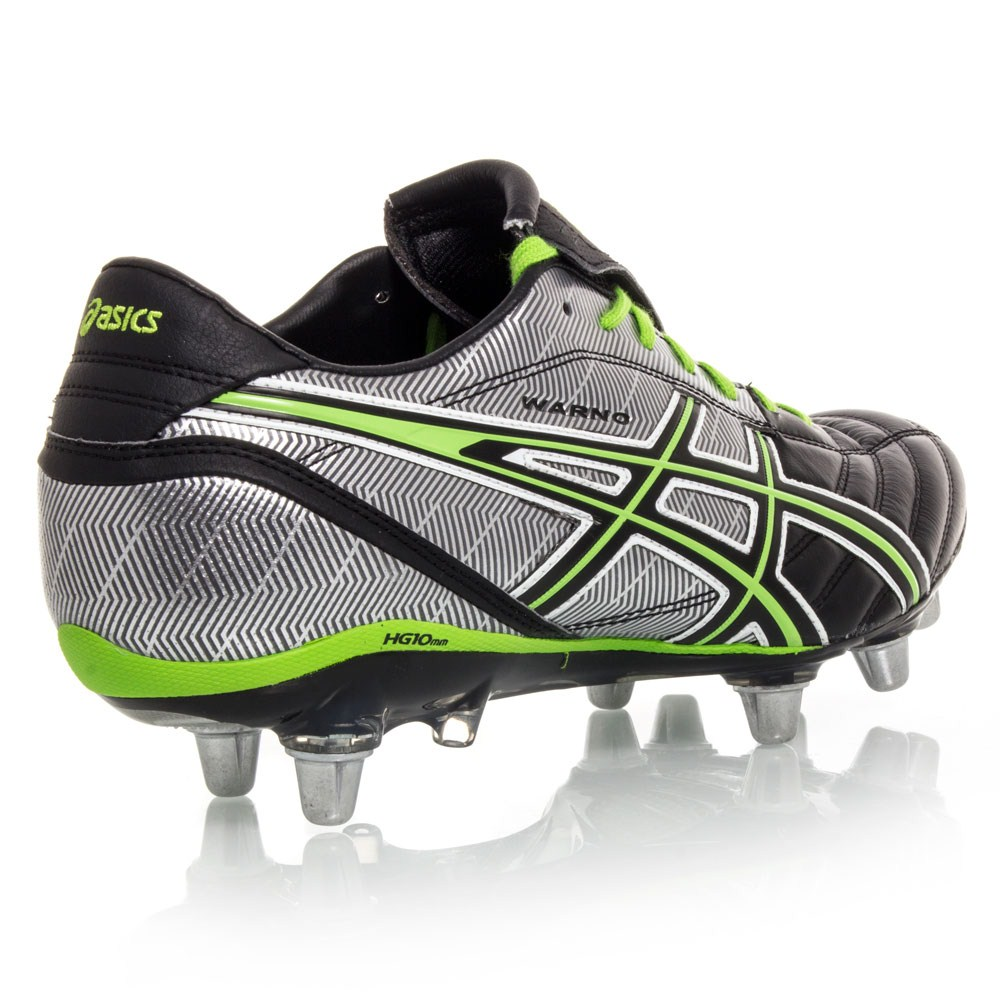 Asics Gel Lethal Warno ST2 - Mens Football/Rugby Boots - Black/Green/