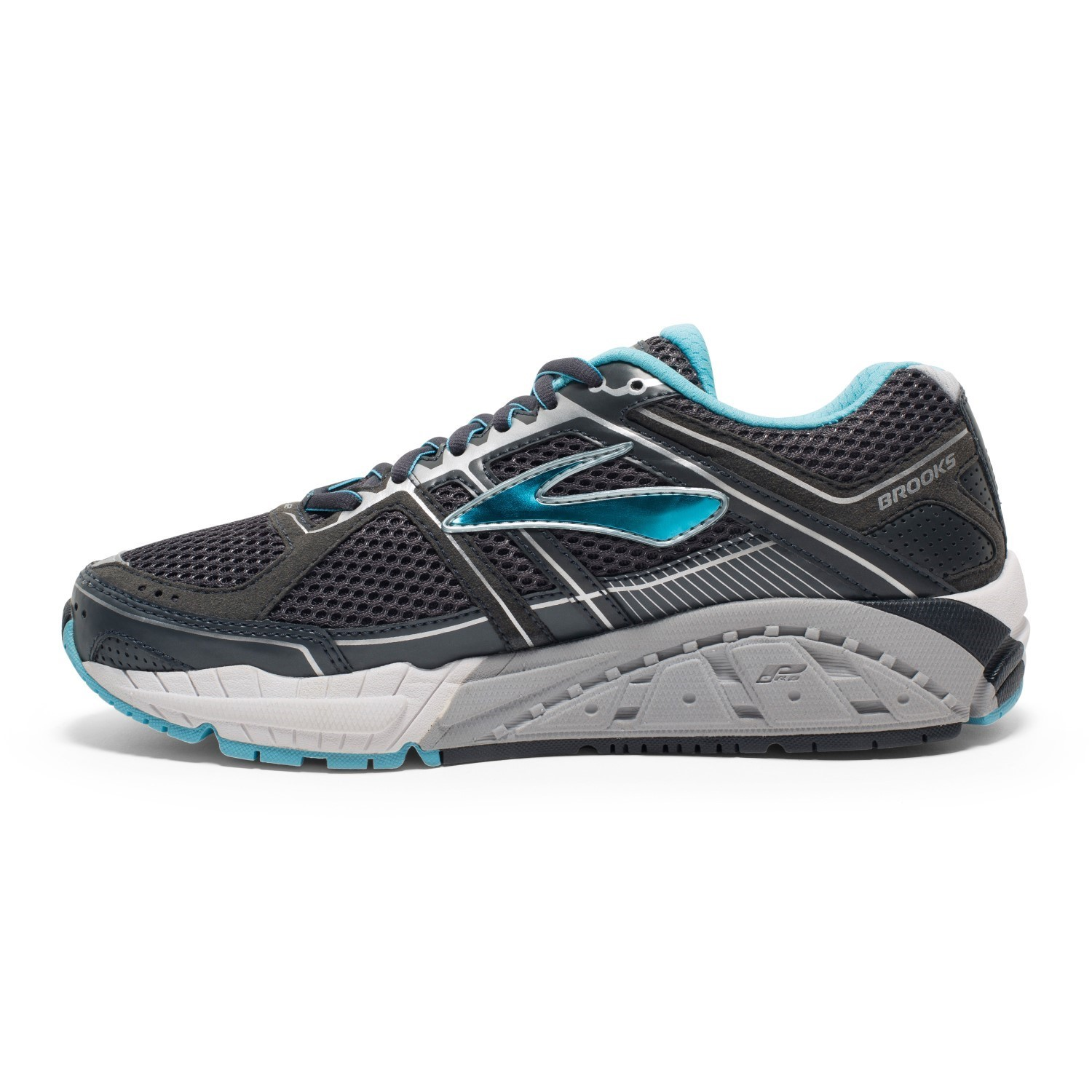 Brooks addiction 12 womens running shoes anthracite for Fish nike shoes