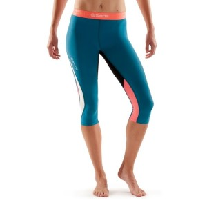 Skins DNAmic Womens Compression 3/4 Tights + Free Gym Bag