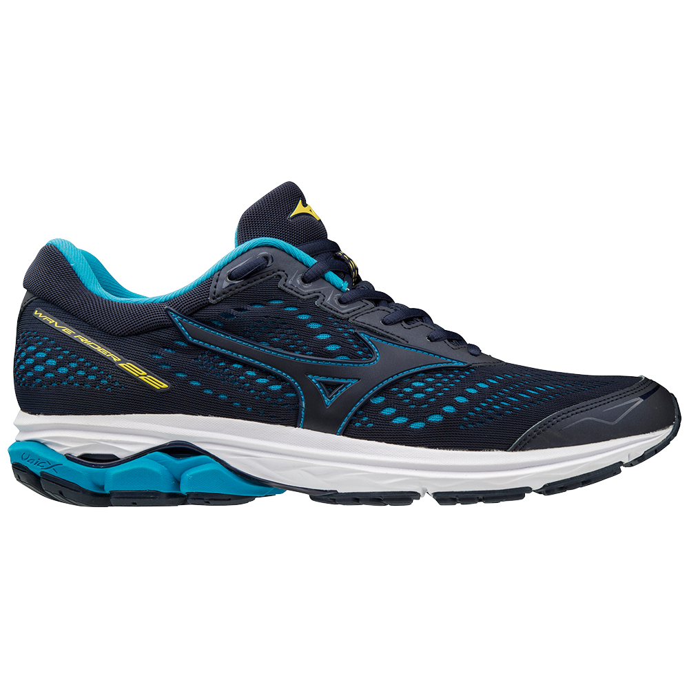 adf0ecb2a Mizuno Wave Rider 22 - Mens Running Shoes - Peacoat/Primrose Yellow ...
