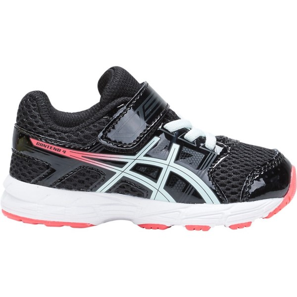 Asics Contend 4 TS - Kids Girls Running Shoes - Black/Soothing Sea