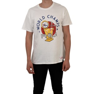 Mitchell & Ness World Champs Philadelphia 76ers Mens Basketball T-Shirt