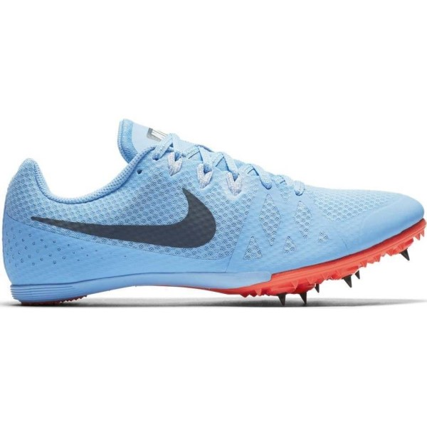 Nike Zoom Rival M 8 - Unisex Track Running Spikes - Football Blue/Ice Blue/Bright Crimson