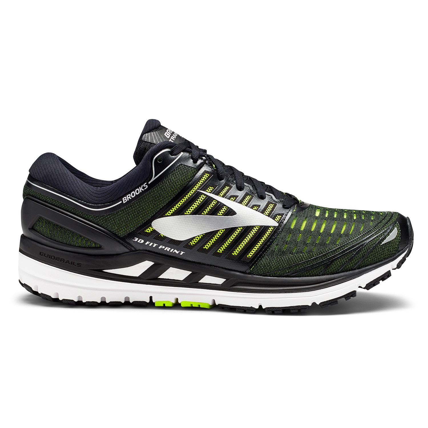 b188cbe7c8d34 Brooks Transcend 5 - Mens Running Shoes - Black Nightlife Silver ...