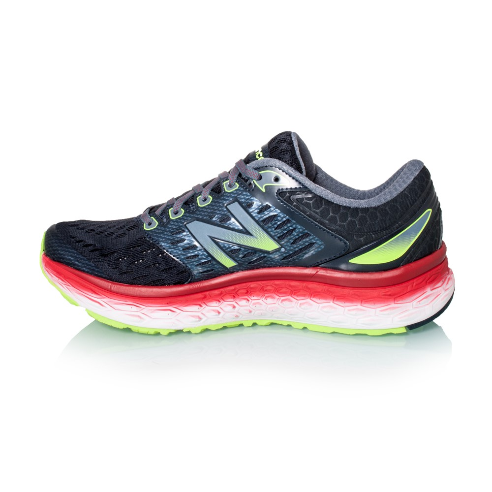 new balance fresh foam 1080 mens running shoes black red lime green online sportitude. Black Bedroom Furniture Sets. Home Design Ideas