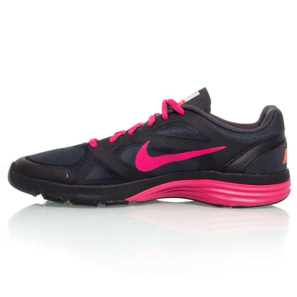 nike dual fusion tr womens shoes black pink