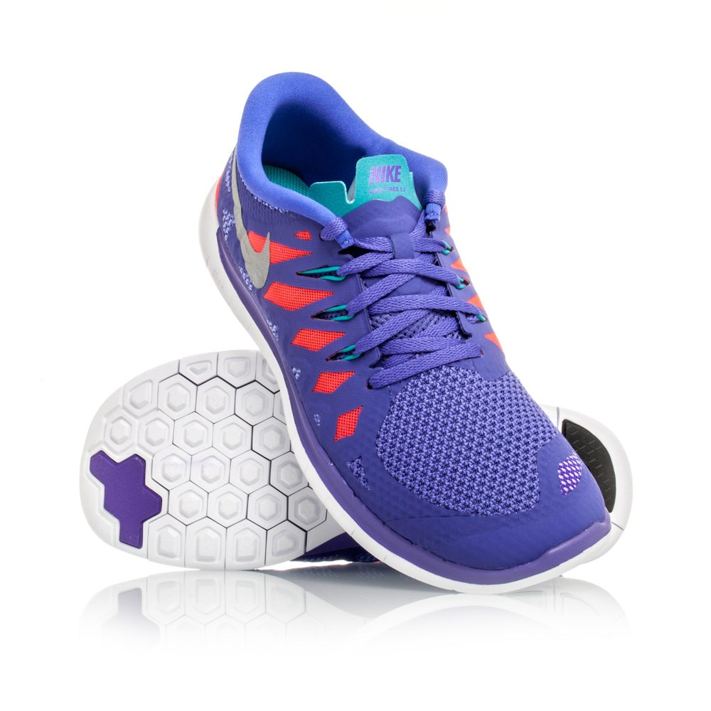 Nike Free 5 GS (2014) - Kids Girls Running Shoes - Purple ...
