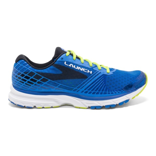 Brooks Launch 3 - Mens Running Shoes - Brooks Blue/Lime Punch/Black