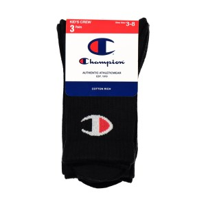 Champion C Logo Kids Crew Socks - 3 Pack