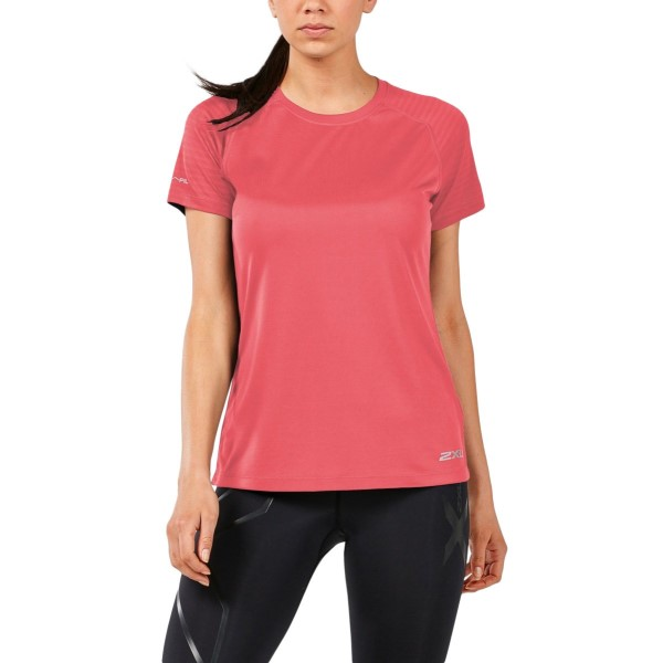 2XU X-Vent Womens Short Sleeve Running T-Shirt - Spiced Coral