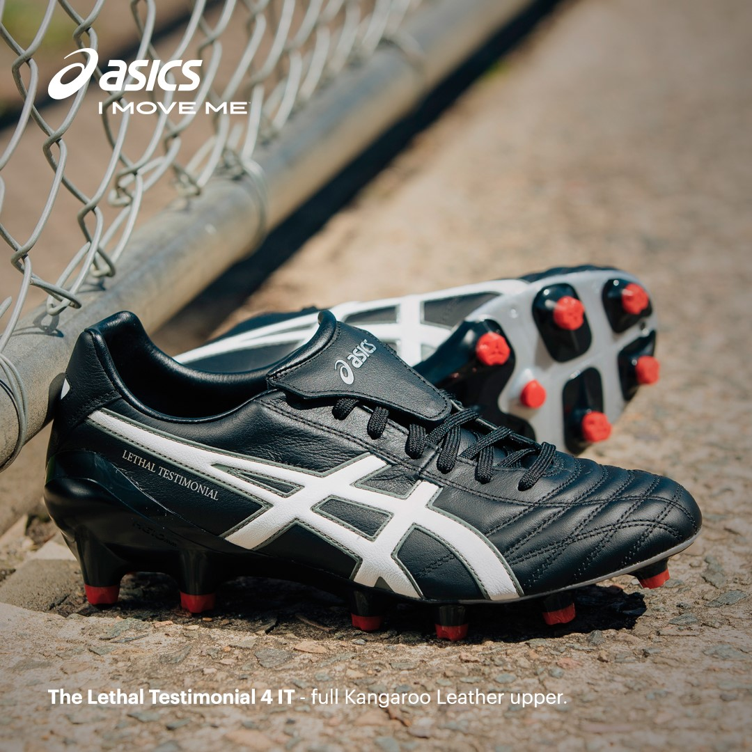 f53ecf4dad91 Asics Lethal Testimonial 4 IT - Mens Football Boots - Black White Silver