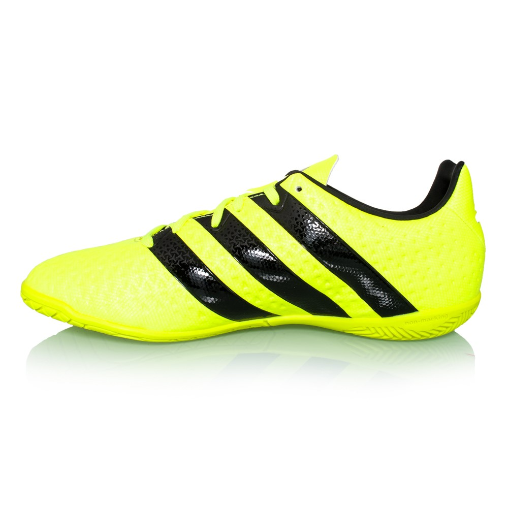 Black And Yellow Indoor Soccer Shoes