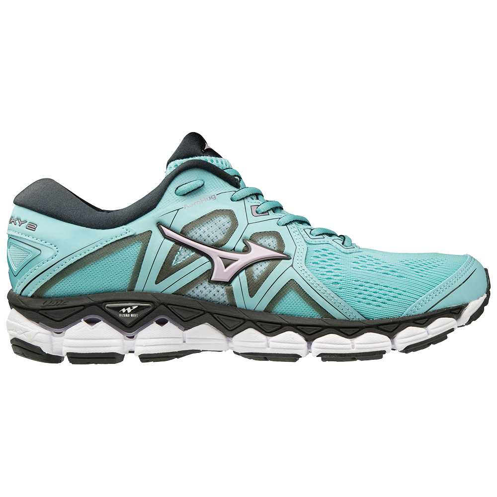 8c552a7b08b Mizuno Wave Sky 2 - Womens Running Shoes - Angel Blue Lavender Frost ...