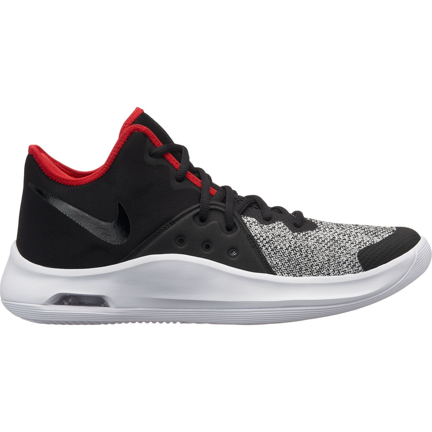 58e48ca4cf70 Nike Air Versatile III - Mens Basketball Shoes - Black White Red ...