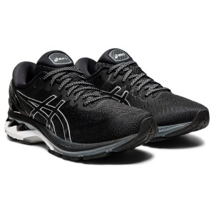 Asics Gel Kayano 27 - Womens Running Shoes - Black/Pure Silver
