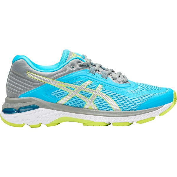Asics GT-2000 6 - Womens Running Shoes - Aquarium/Silver/Neon Lime